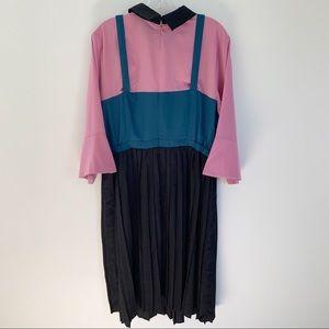 Eloquii Dresses - Eloquii Pleated Dress